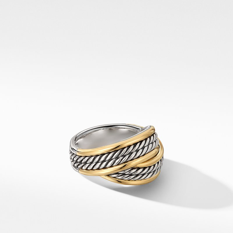 David Yurman DY Origami Ring with 18K Yellow Gold