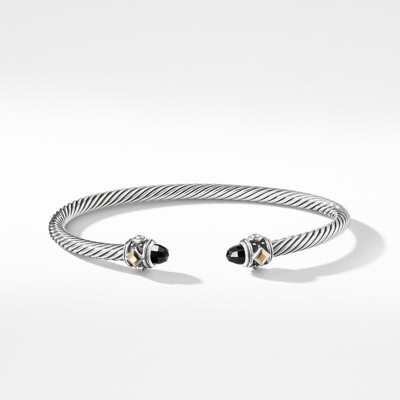 David Yurman Renaissance Bracelet with Black Onyx and 18K Gold