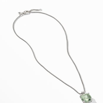 Chatelaine® Pendant Necklace with Prasiolite and Diamonds