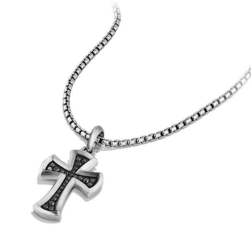 David Yurman Petrvs Cross Pendant with Black Diamonds