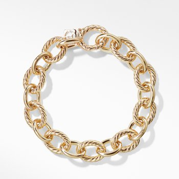 Oval Large Link Bracelet in Gold