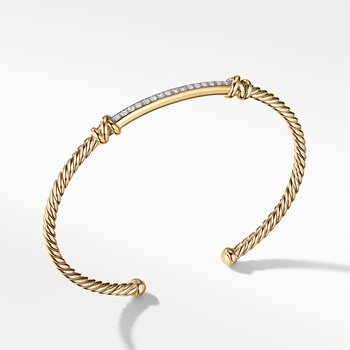 Petite Helena Two Station Wrap Bracelet in 18K Yellow Gold with Diamonds
