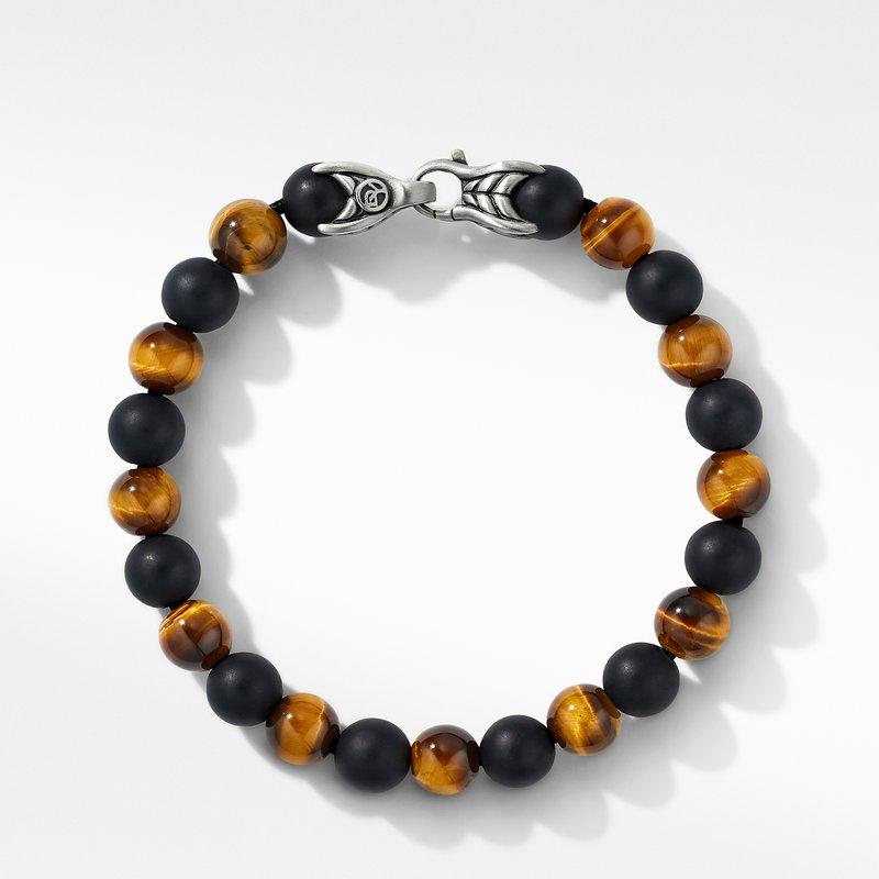 David Yurman Spiritual Beads Bracelet with Tiger's Eye and Black Onyx
