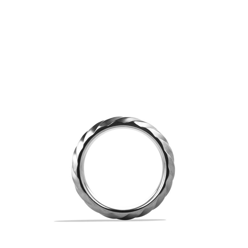 David Yurman Modern Cable Wide Band Ring with Gray Titanium