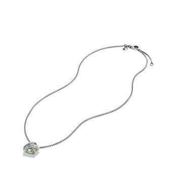 Cable Wrap Necklace with Prasiolite and Diamonds