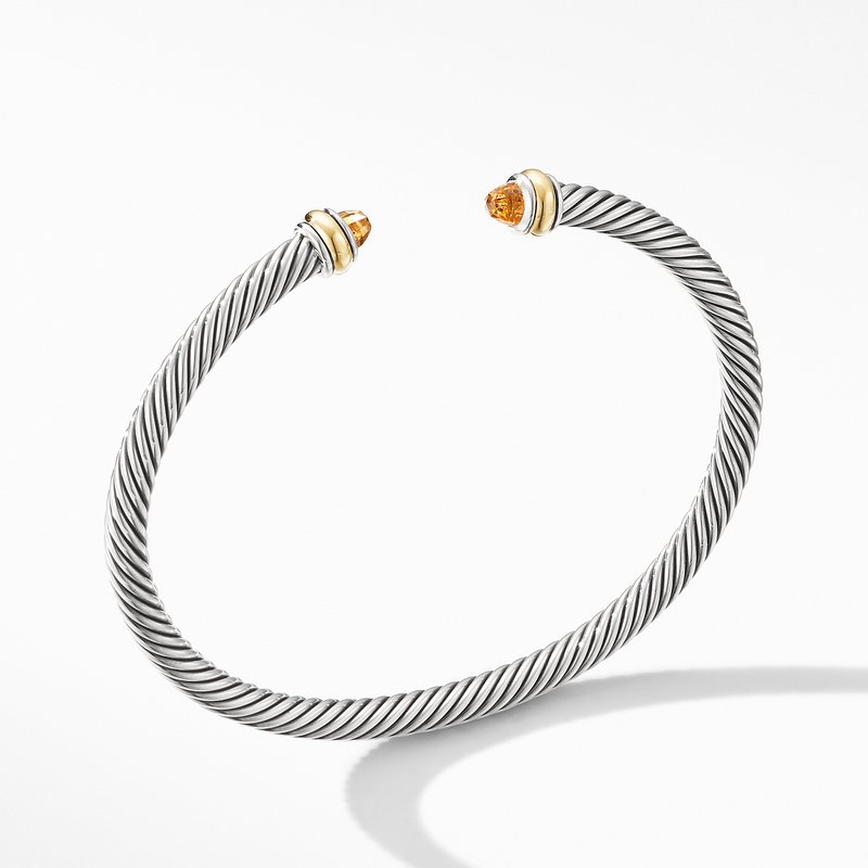 David Yurman Cable Classic Bracelet with Citrine and 18K Yellow Gold