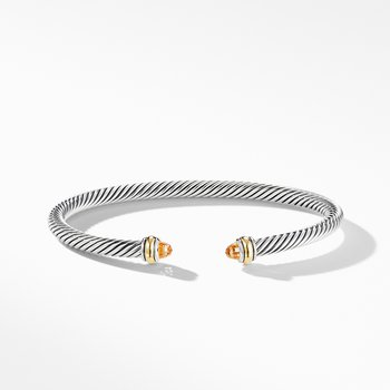Cable Classic Bracelet with Citrine and 18K Yellow Gold