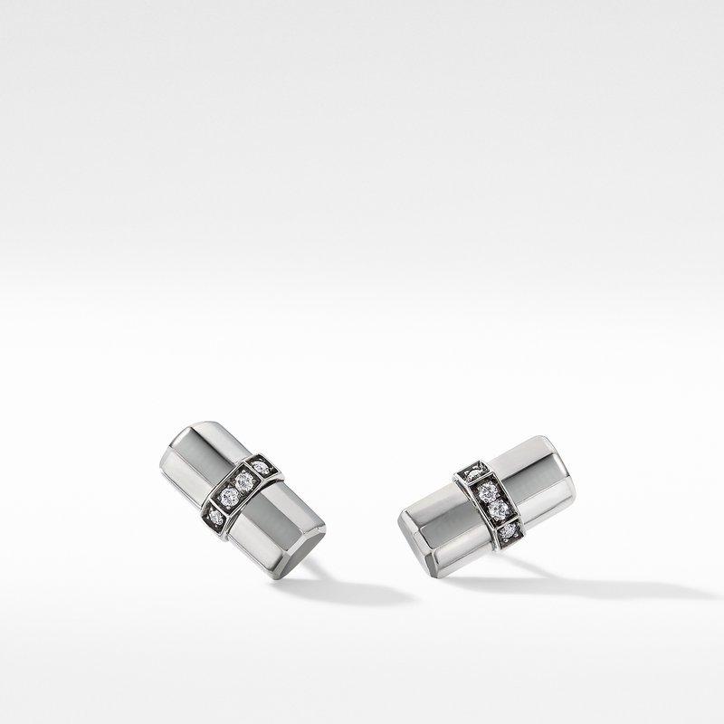 David Yurman Lexington Stud Earrings with Diamonds