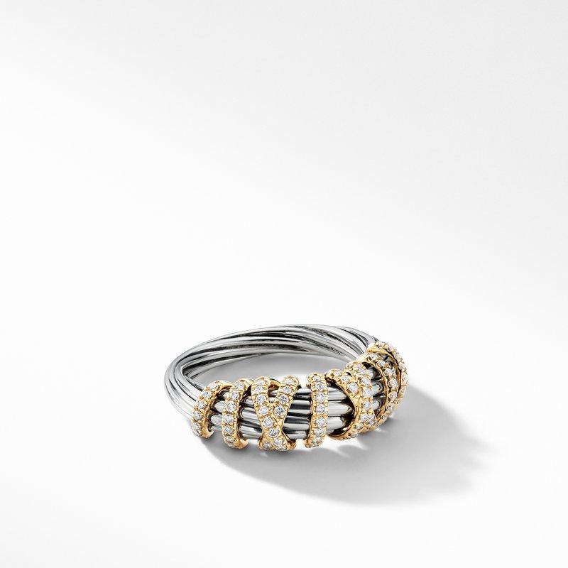 David Yurman Helena Ring with Diamonds and 18K Gold, 8mm
