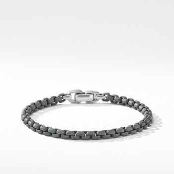 Box Chain Bracelet in Grey