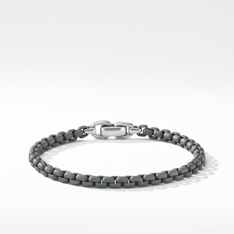 David Yurman Box Chain Bracelet in Grey