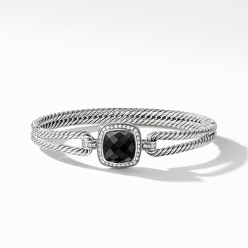 Albion® Bracelet with Black Onyx and Diamonds