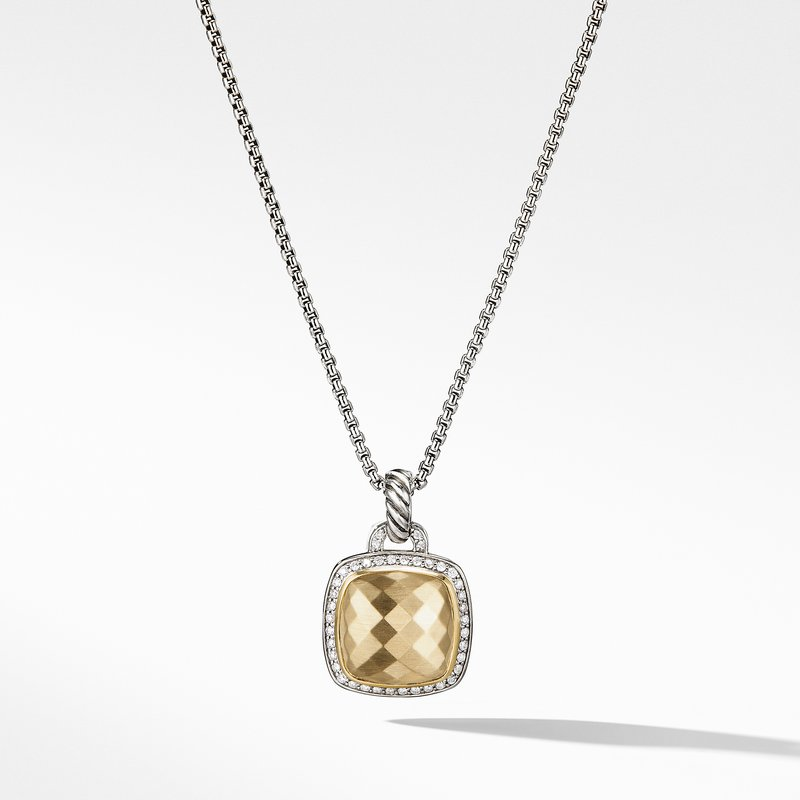 David Yurman Pendant 18K Gold Dome and Diamonds