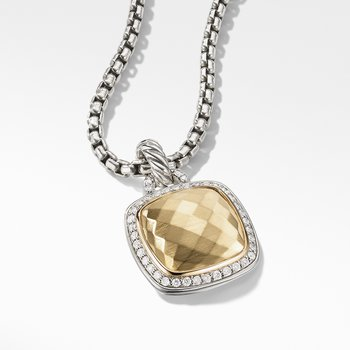 Pendant 18K Gold Dome and Diamonds