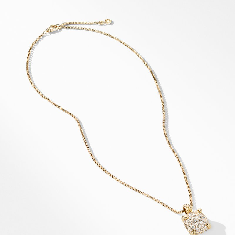 David Yurman Chatelaine® Pendant Necklace with Diamonds in 18K Yellow Gold