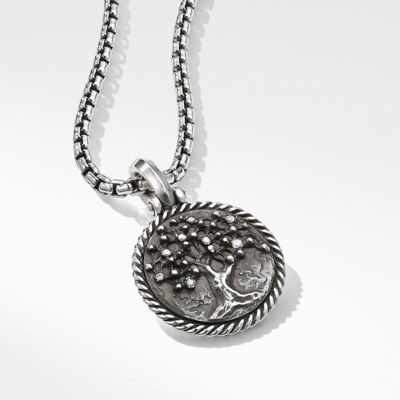 David Yurman Tree of Life Amulet with Diamonds