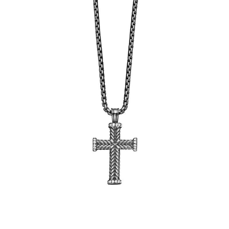 David Yurman Chevron Cross with Diamonds