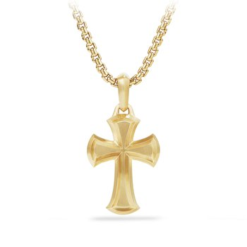 Cross Amulet in 18K Gold