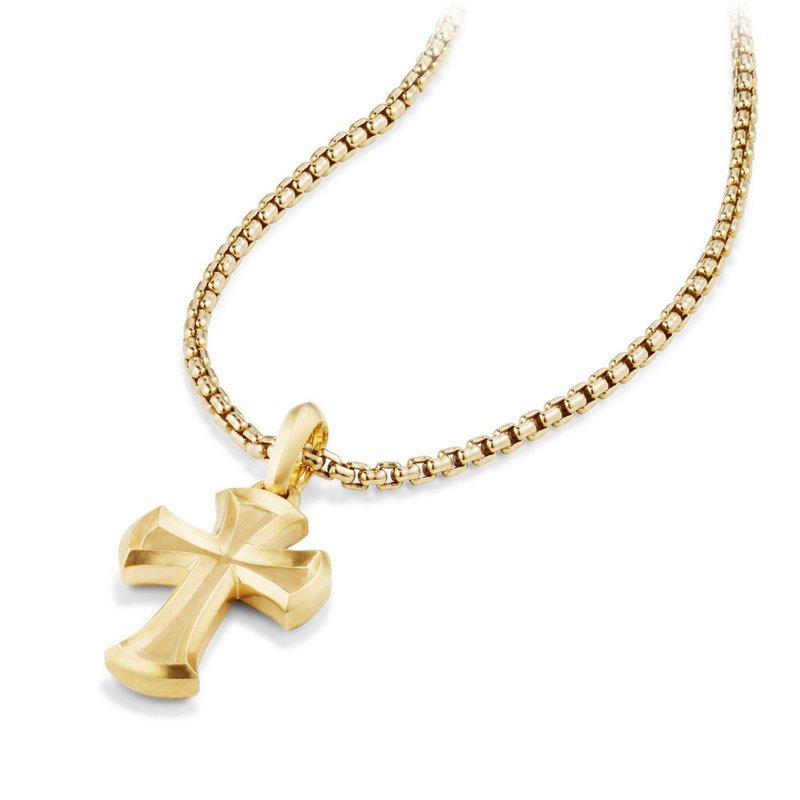 David Yurman Cross Amulet in 18K Gold