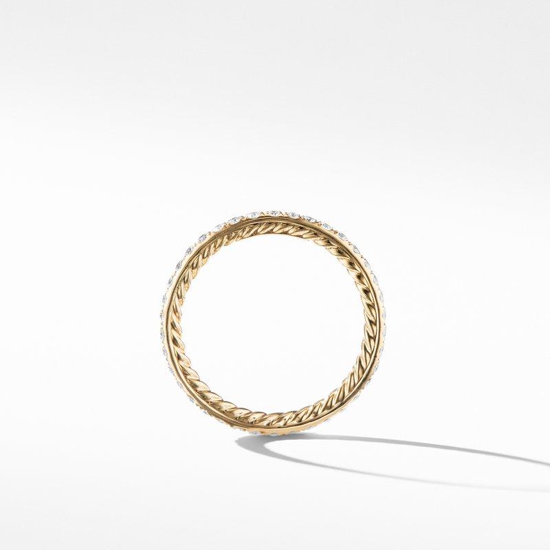 David Yurman DY Eden Band Ring in 18K Yellow Gold with Diamond