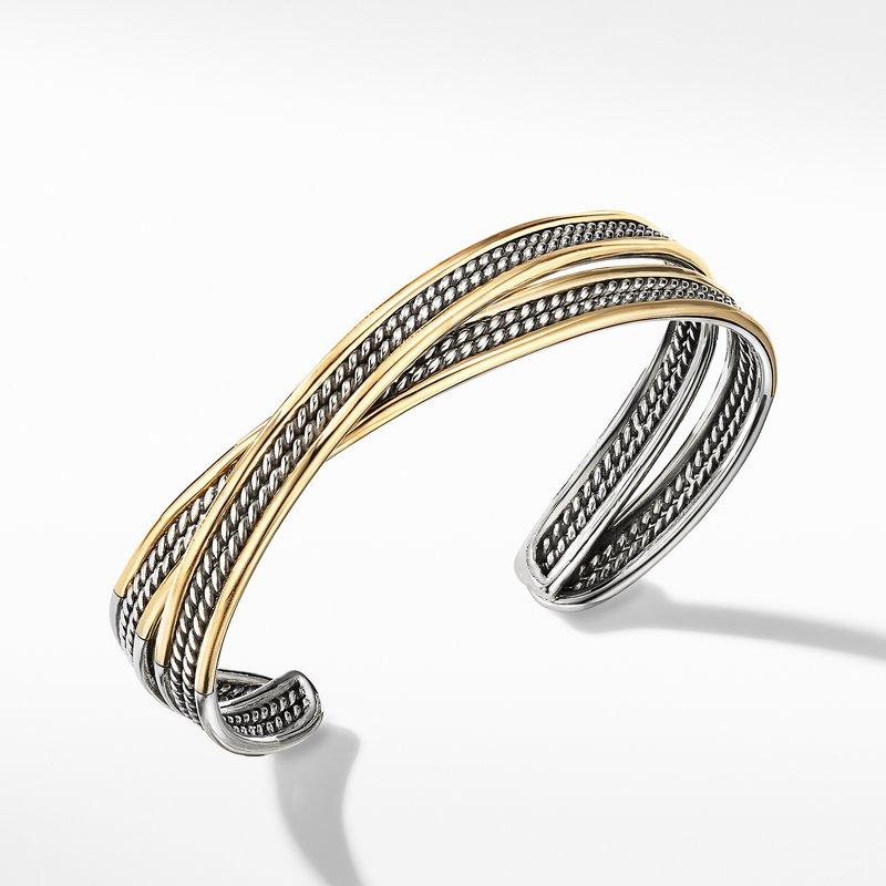 David Yurman DY Origami Cuff Bracelet with 18K Yellow Gold
