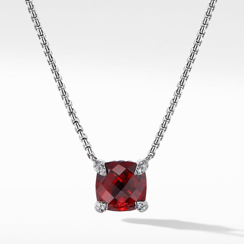 David Yurman Chatelaine® Pendant Necklace with Rhodalite Garnet and Diamonds
