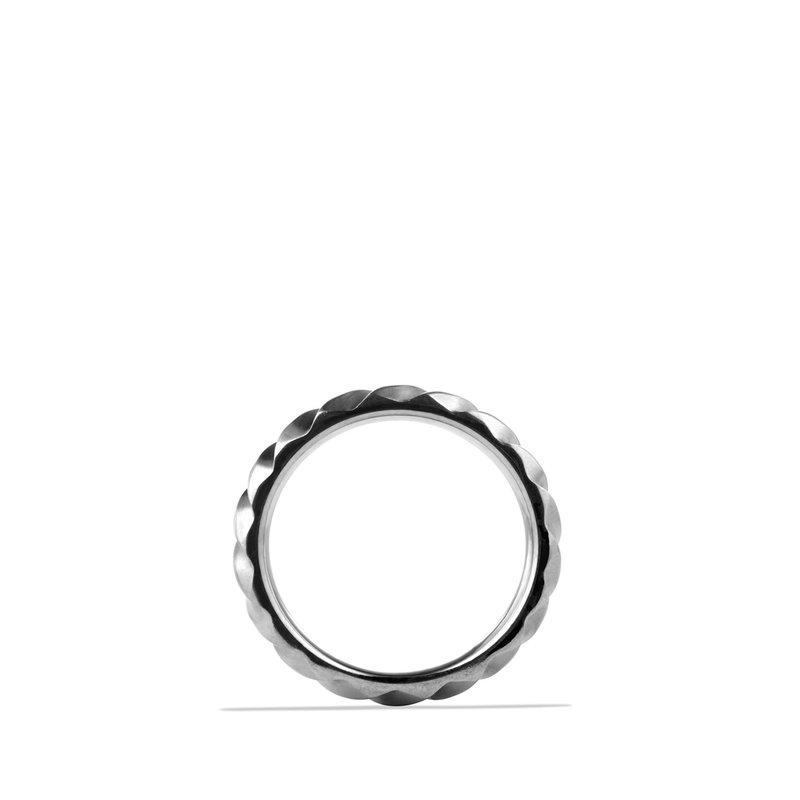 David Yurman Modern Cable Narrow Band Ring with Gray Titanium
