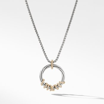 Helena Medium Pendant Necklace with Diamonds and 18K Gold,
