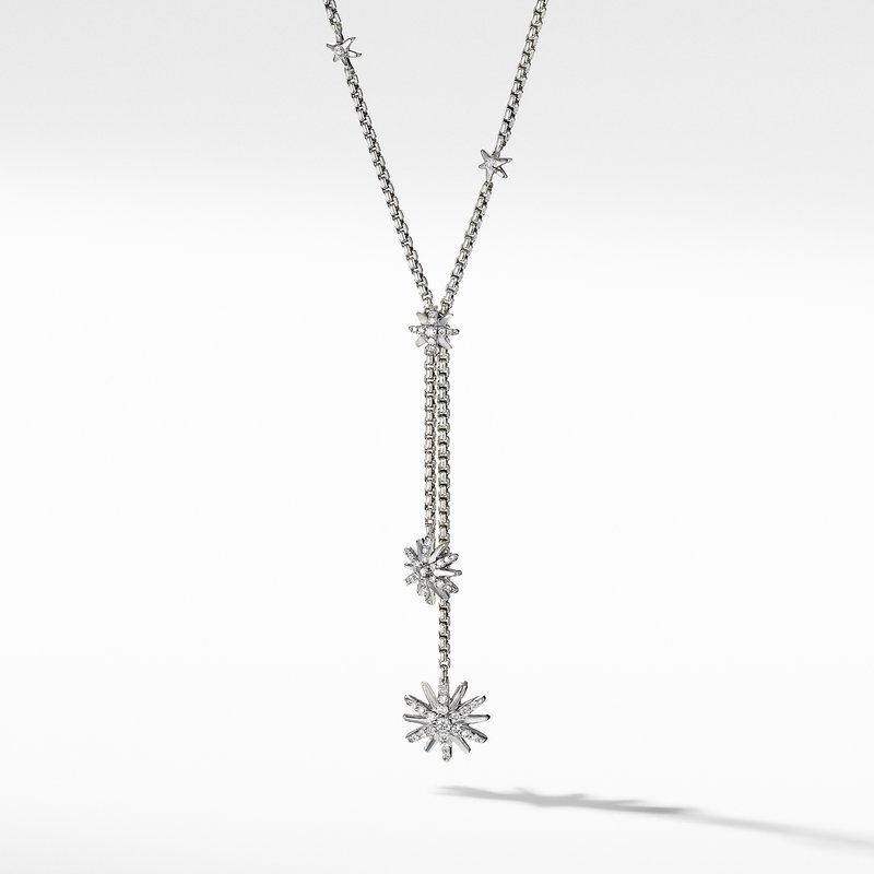 David Yurman Starburst Y Necklace with Diamonds