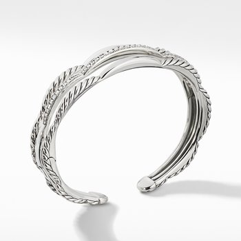 Tides Three Row Cuff Bracelet with Diamonds