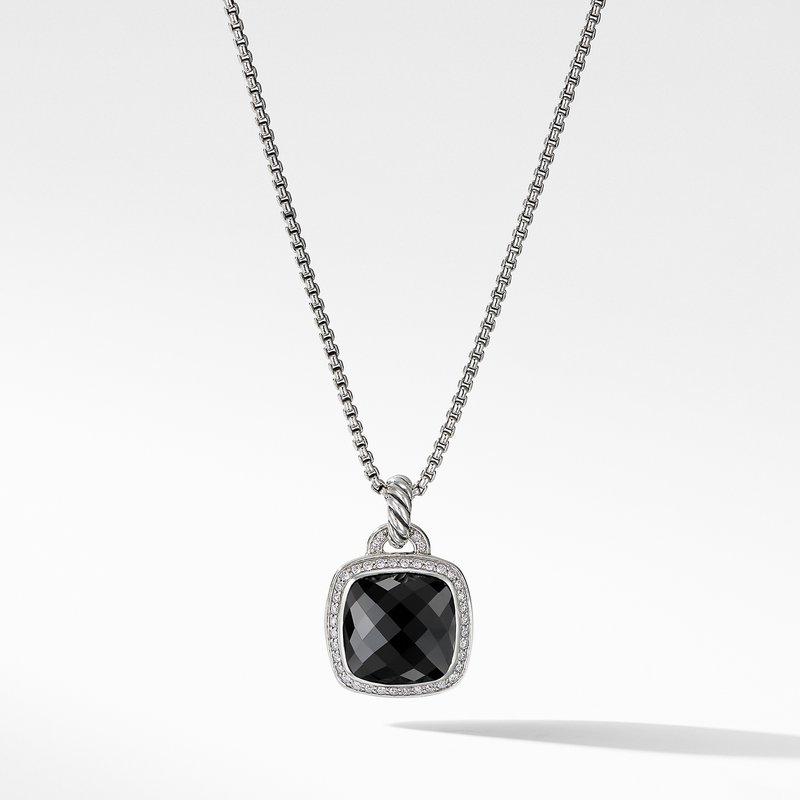 David Yurman Pendant with Black Onyx and Diamonds