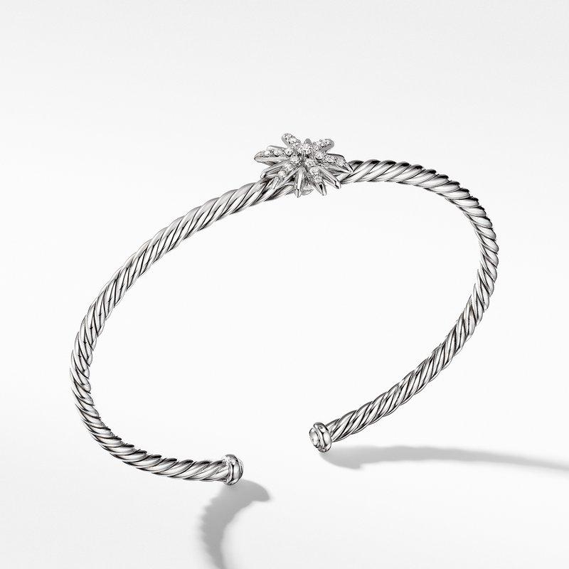 David Yurman Starburst Center Station Bracelet with Pavé Diamonds