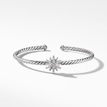 Starburst Center Station Bracelet with Pavé Diamonds