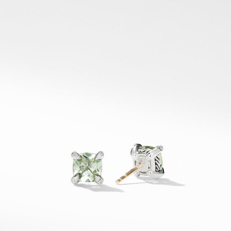 David Yurman Chatelaine® Stud Earrings with Prasiolite and Diamonds