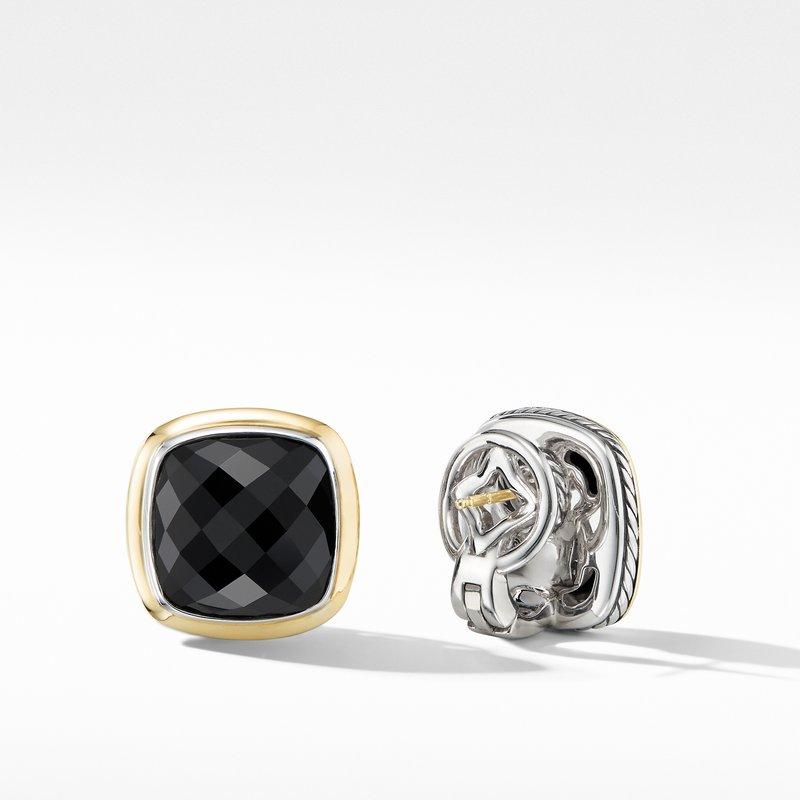 David Yurman Albion® Stud Earrings with Black Onyx and 18K Yellow Gold