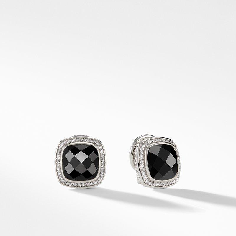 David Yurman Earrings with Black Onyx and Diamonds
