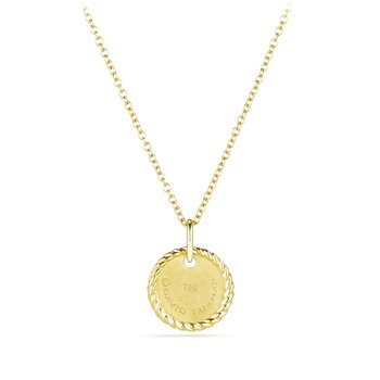 """P"" Pendant with Diamonds in Gold on Chain"