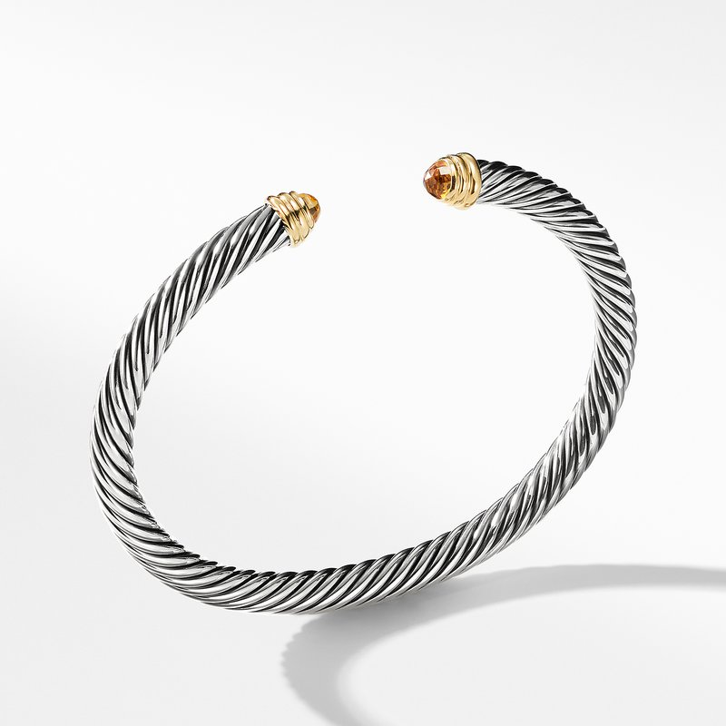 David Yurman Cable Classics Collection® Bracelet with Citrine and 14K Gold