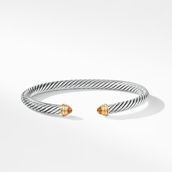 Cable Classics Collection® Bracelet with Citrine and 14K Gold