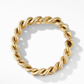 Curb Chain Bracelet in 18K Yellow Gold
