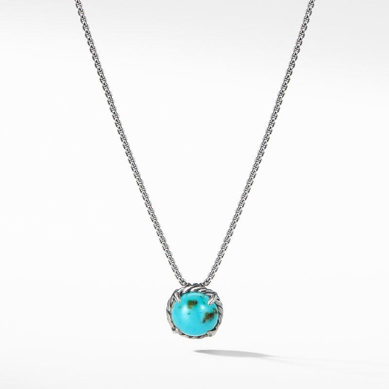 David Yurman Chatelaine Pendant Necklace with Turquoise