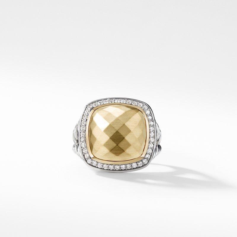 David Yurman Ring with 18K Gold Dome and Diamonds