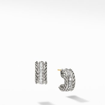 Cable Classics Collection® Earrings with Diamonds