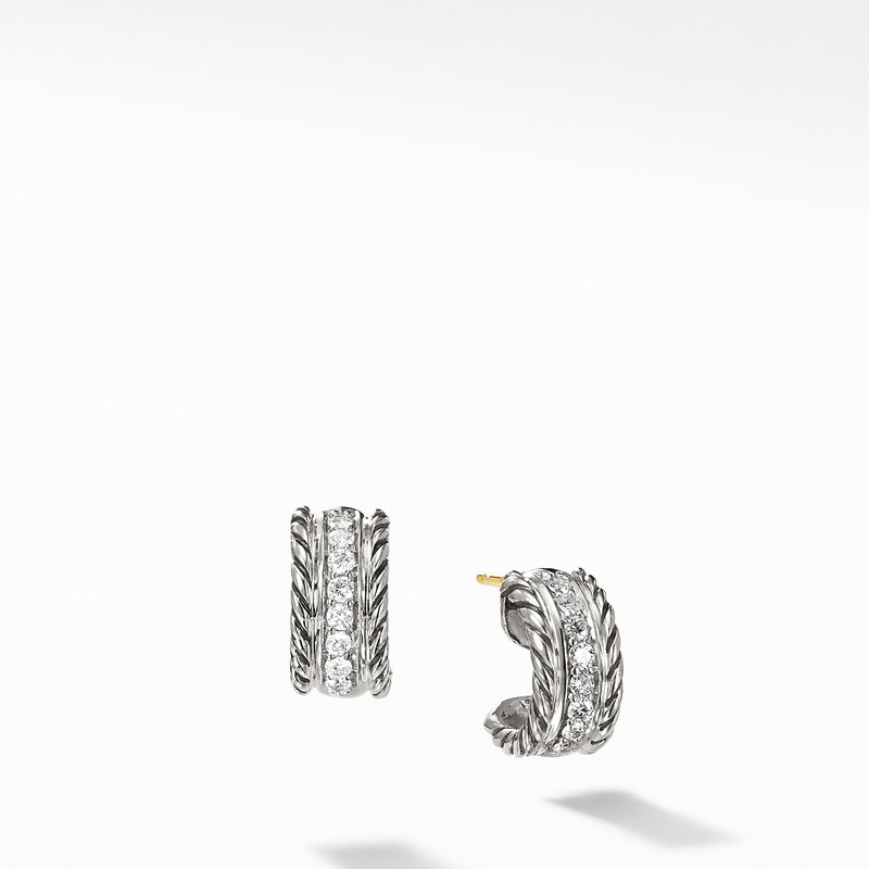 David Yurman Cable Classics Collection® Earrings with Diamonds