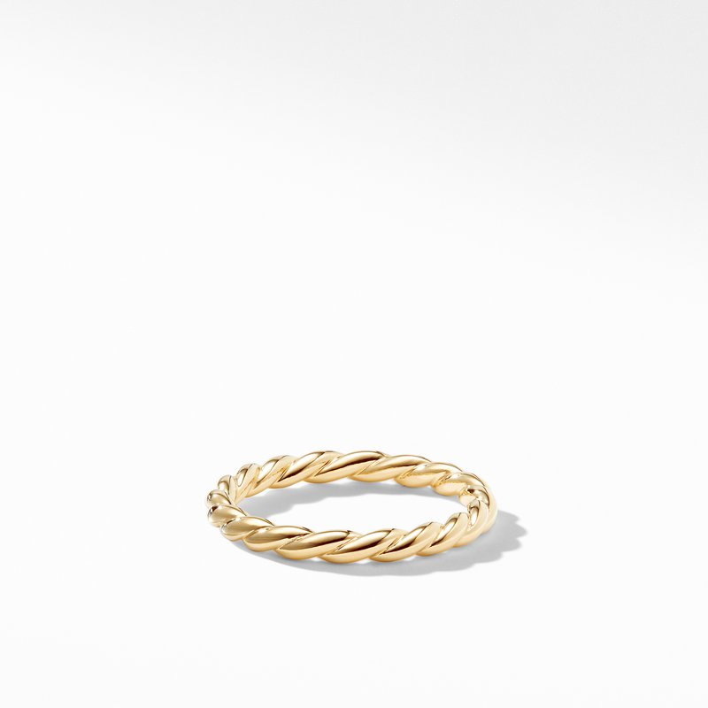 David Yurman Paveflex Ring in 18K Gold, 2.7mm