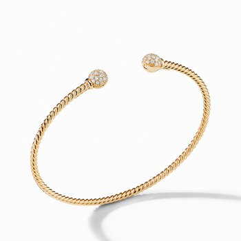 Petite Solari Bead Bracelet with Diamonds in 18K Gold