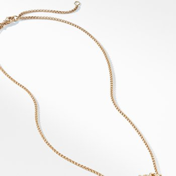 The Crossover Collection® Single Station Necklace with Diamonds in 18K Gold