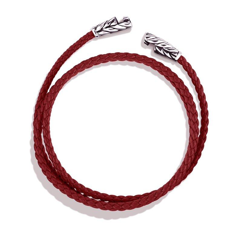 David Yurman Chevron Triple-Wrap Bracelet in Red