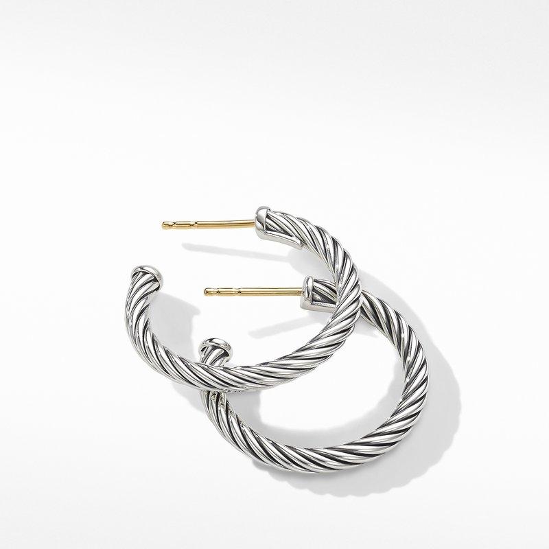 David Yurman Small Cable Hoop Earrings