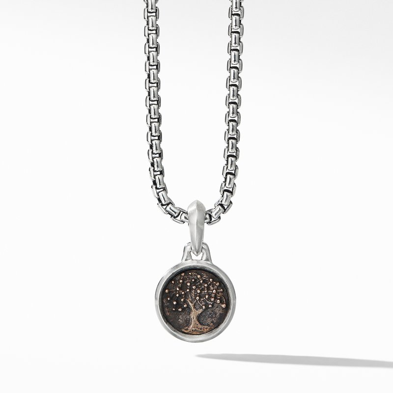 David Yurman Extra-Small Tree of Life Amulet with Bronze